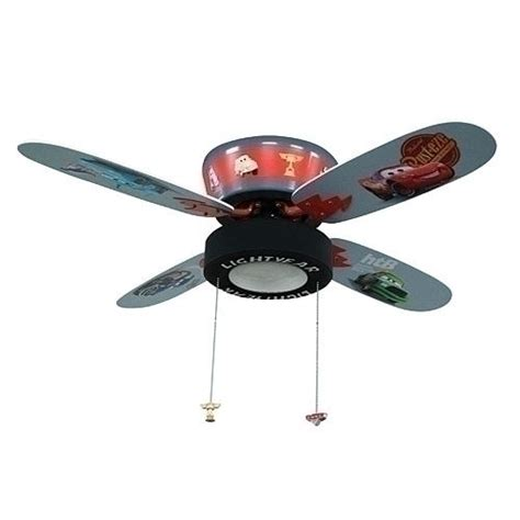 Disney Pixars Cars The Movie Ceiling Fan With Goodyear Car Ceiling Light