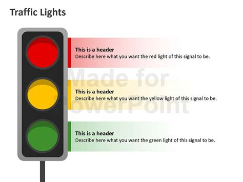 Traffic Lights Editable Powerpoint Template Traffic Light Template