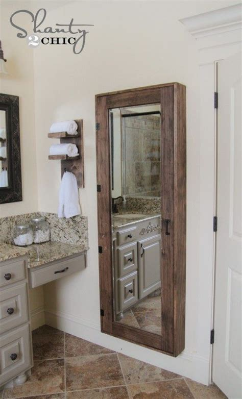full length bathroom mirror cabinet diy bathroom storage cabinet