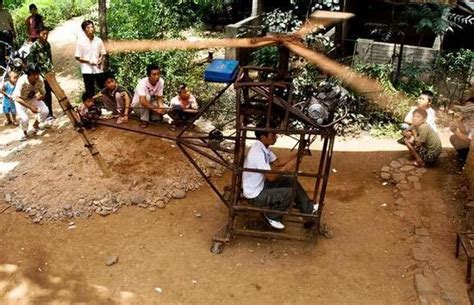 things to build in your backyard chinese mcgyver turns chopped wood into wooden chopper