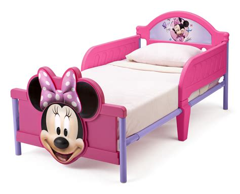 minnie mouse 3d toddler bed baby safety zone powered