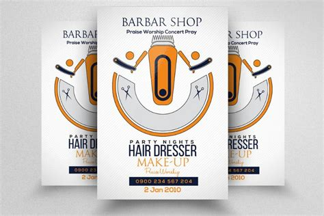 customizable flyer templates 20 barber shop flyer template psd indesign ai format
