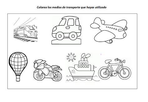 imagenes para colorear medios de transporte terrestre fichas educativas los medios de transporte