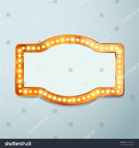 vintage light bulb signs retro bulb circus cinema light sign stock vector 266590601
