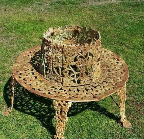cast iron tree bench 1000 images about tree benches on pinterest longwood