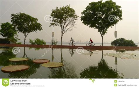 graphic design pasir gudang cycling in hazy singapore editorial image image 31806730