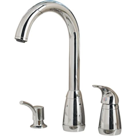 Price Pfister T526 5CC Contempra Single Handle Pullout Kitchen Faucet with Soap Dispenser