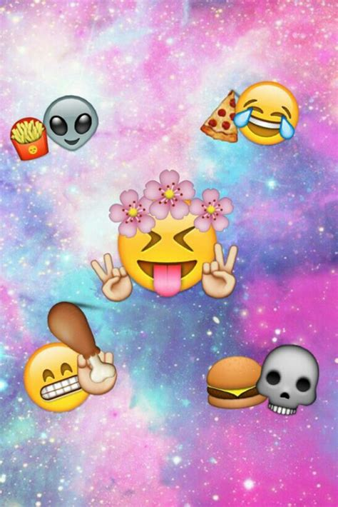 galaxy wallpaper with emoji emoji galaxy wallpaper image 2075448 par lady d sur