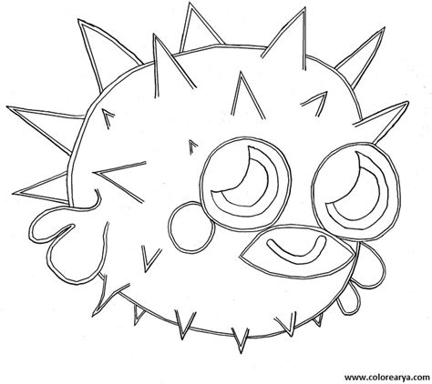 free puffer fish coloring pages