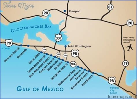 watersound florida map south walton florida map toursmaps