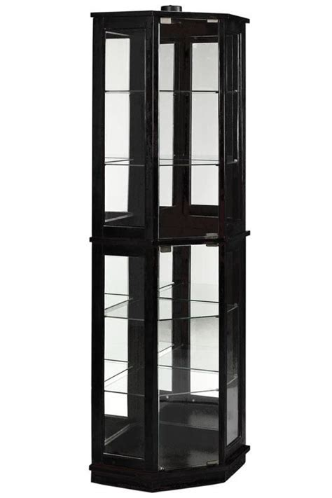corner curio cabinet amazon hanley corner curio homedecorators com to display