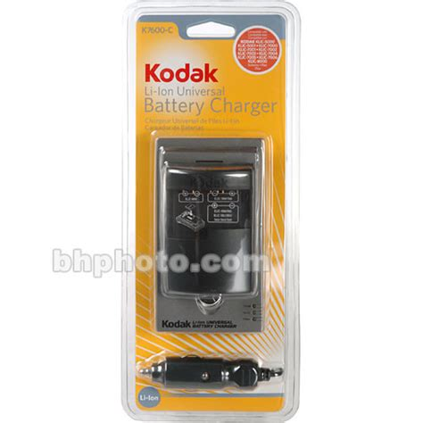 kodak battery charger kodak k7600 c li ion universal battery charger 1550755 b h