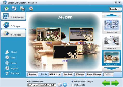 design menu dvd menu design with boilsoft dvd creator dvd burner dvd