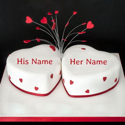 Wedding Anniversary Wishes Card With Name Edit by Write Name On Happy Anniversary Cake
