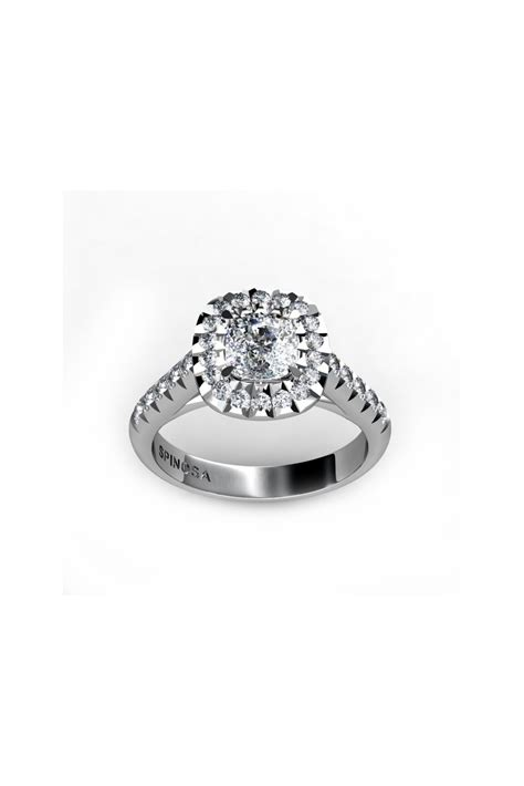18k white gold cushion cut solitaire engagement ring