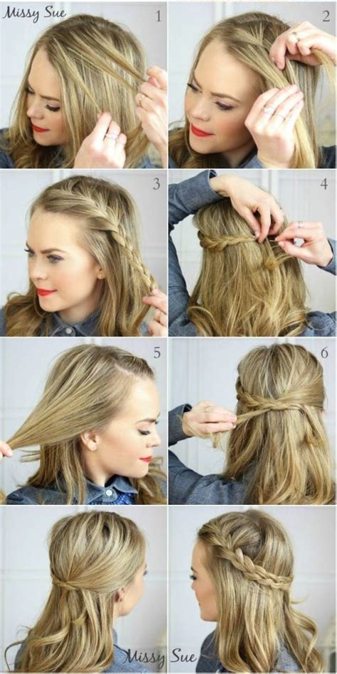 easy hairstyles for medium hair no heat 18 no heat hairstyles easy hairstyles tutorials easy