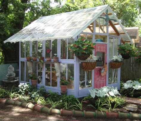 10 greenhouses made from windows and doors total