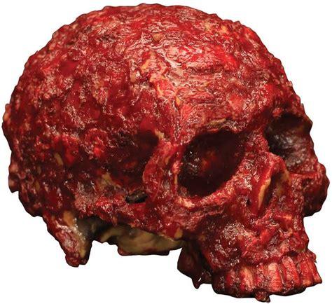 blood scab resin skull halloween prop