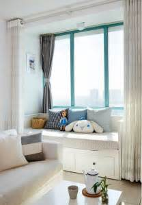 Yellow And Gray Bedroom Curtains - small living room design with bay window