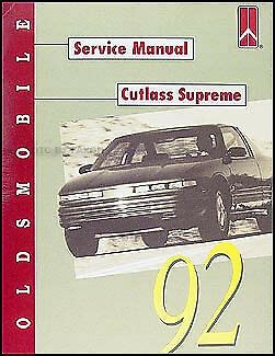 car repair manual download 1992 oldsmobile silhouette engine control 1992 oldsmobile cutlass supreme shop manual 92 olds ebay