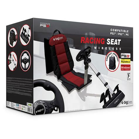 siege volant xbox one bigben racing seat ps3 ps2 pc volant pc bigben