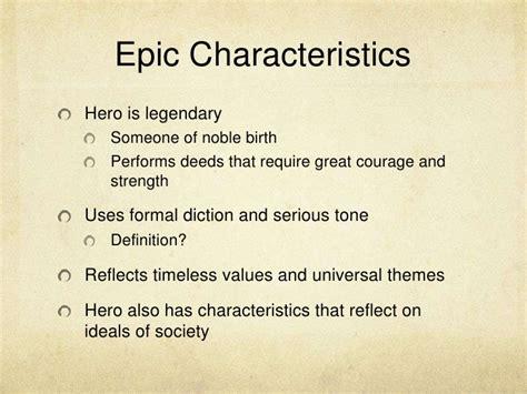 universal themes definition epic characteristics