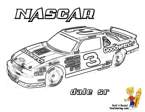 Full Force Race Car Coloring Pages Free Nascar Nascar Coloring Page
