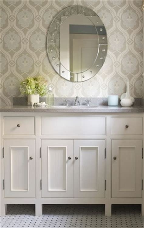 Kelsey M Design Wallpaper Wednesday Bathrooms Designer Wallpaper For Bathrooms