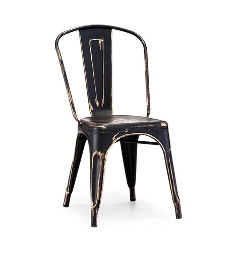 black gold vintage metal tolix chair tablebasedepot