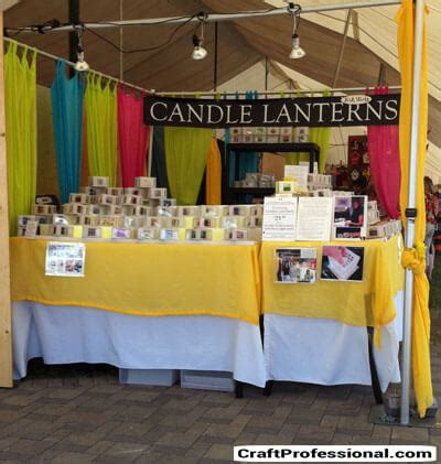 Candle Display by Candle Display Ideas For Your Craft Booth