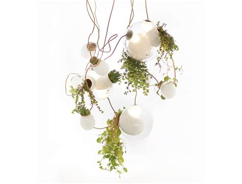 plant chandelier omer arbel s gorgeous chandelier glows green with hanging