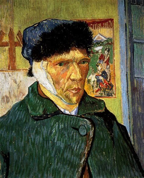 1889 gogh autoportrait 224 l oreille band 233 e self