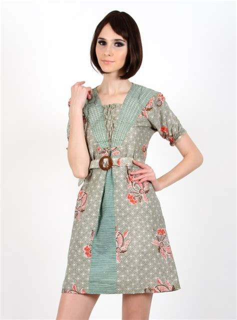 Mini Dress Wanita With model dress batik modern 2015