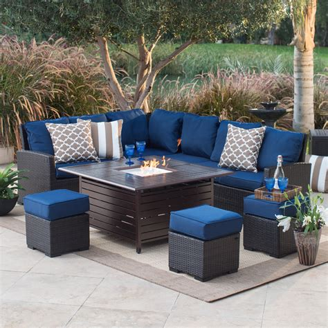 pit patio set belham living monticello all weather wicker pit chat