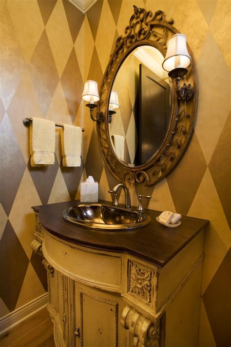 harlequin home decor powder room with harlequin wallpaper