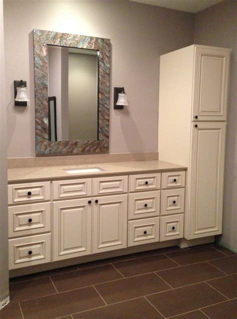 vanity linen cabinet with her matching bathroom vanity and linen cabinet bathroom