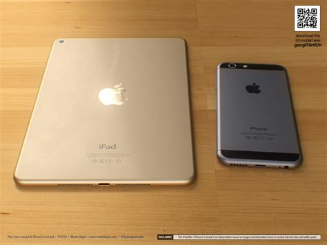 Apple 3 Mini martin hajek s 3d renderings of mini 3 and iphone 6