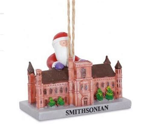 santa visiting smithsonian washington dc landmark