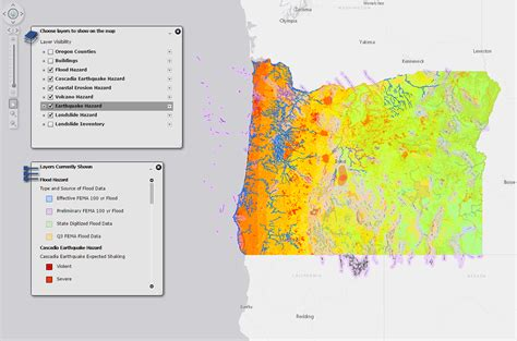 interactive map of oregon interactive map of geohazards in oregon american