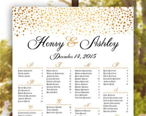 bridal shower seating chart template d 233 cor etsy