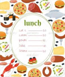 Free School Lunch Menu Templates by Lunch Menu Template 32 Free Word Pdf Psd Eps