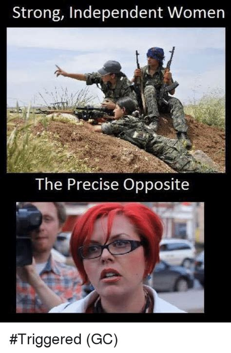 Meme For Women - strong independent women the precise opposite triggered