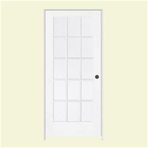prehung interior french doors home depot jeld wen smooth 15 lite primed wood prehung interior