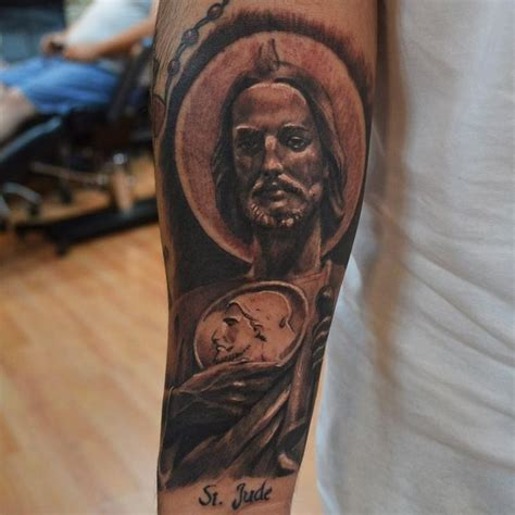 pinterest tattoo portrait great realistic religious st jude portrait tattoo on