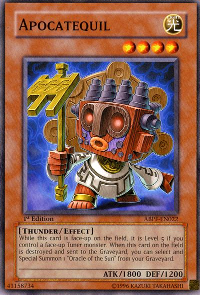 yugioh wolkian deck apocatequil yu gi oh
