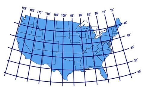 usa map with longitude and latitude united states latitudes longitudes maps