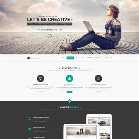 layout design psd startup landing page template free psd download download psd