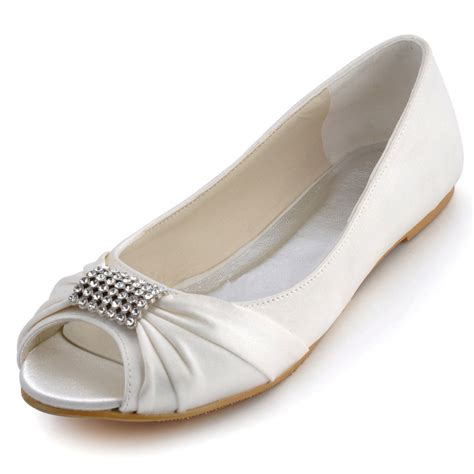 flat wedding shoes popular flat peep toe wedding shoes buy cheap flat peep