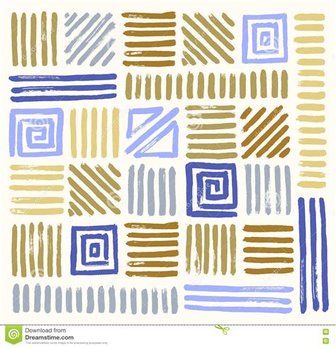 abstract pattern brush abstract geometric brush strokes seamless pattern stock