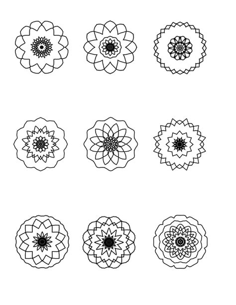 tiny color small mandala coloring pages coloring pages